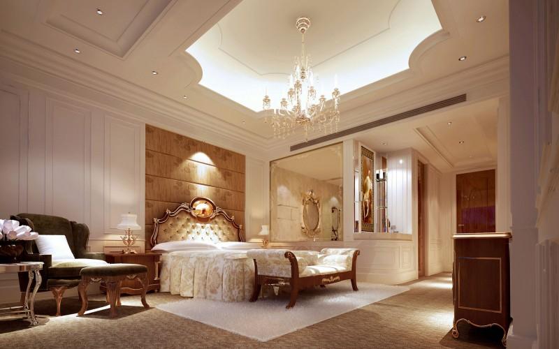 别墅设计-卧室设计效果图